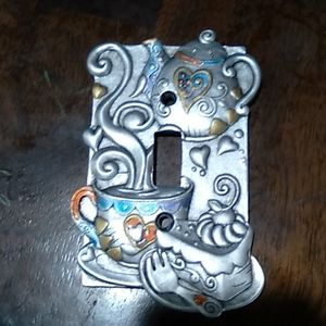 Alice in wonderland themed light switch cover